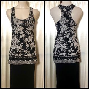 INC lacy racer back tank